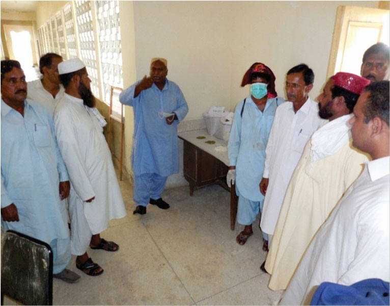 At Larkana, Sindh, participants learned about the benefits of incorporating mungbean into rice-wheat cropping systems.