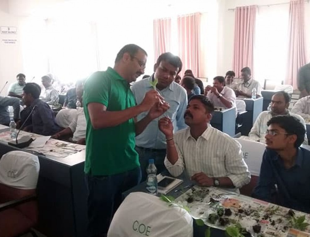 Government officers learn about tomato grafting